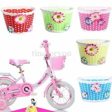 Plastic Bike Bicycle Cycle Front Basket Flower Shopping Holder Children Kid Girl