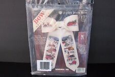 Dimensions 8541 Charles Wysocki Country Christmas Bow Cross Stitch Kit New Door