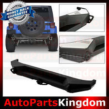 "07-16 Jeep JK Wrangler Rock Crawler HD Rear Bumper+2"" Hitch Receiver+Dual Plate"