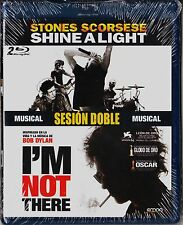 Sesión doble musical 2 blu-ray: STONES-SCORSESE SHINE A LIGHT y I'M NOT THERE