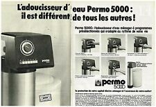 PUBLICITE ADVERTISING  054  1977  PERMO  500   adoucisseur d'eau ( 2 pages)