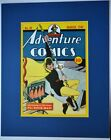 ADVENTURE 48 Pin up Poster Matted Frame Ready DC Comics