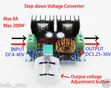 200W DC-DC Buck Step-down Converter 5-36V to 1.25-36V 6V 12V 24V 8A Adjustable
