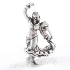 3D FLAMENCO DANCER Pendant Charm solid 925 Sterling Silver Spanish Dance
