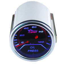 "Car Motor Pointer Smoke Tint Len 2"" 52mm Oil Press Gauge Meter Dials Face"
