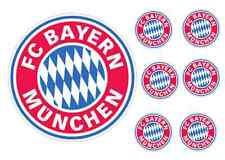 Bayern Munich 17cm cake topper with 6 5cm cupcake toppers ICING