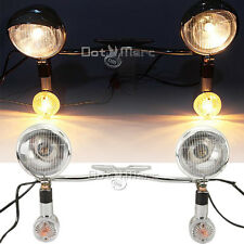 Passing Light Bar Turn Signals Fit Kawasaki VN Vulcan Classic Drifter 800 NEW