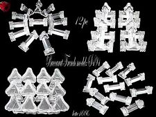 BACCARAT French Crystal knife rests 12 pc 1880 model S494