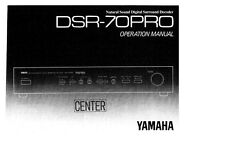 Yamaha DSR-70PRO Decoder Owners Manual