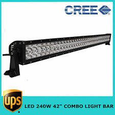 Toyota 42inch 240W CREE COMBO BEAM LED Light Bar Offroad Boat SUV ATV JEEP LAMP
