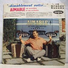 """33 tours AIMABLE Disque Vinyle LP 12"""" AIMABLEMENT VOTRE Musette VOGUE 1730"""