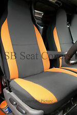 VW TRANSPORTER T4 VAN SEAT COVERS ANTHRACITE ORANGE BOLSTERS