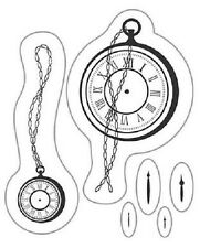 cArt-Us Clear rubber stamp POCKET WATCH & HANDS 5cm x 6cm 180009/2062 Reduced