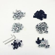 Chrome Racing Fairing Bolt Kit Body Fasteners Clip Screws Motorcycle Sport Bike
