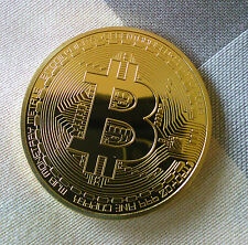 BITCOIN Münze - Medaille - NEW 1 oz 999 Kupfer Copper vergoldet 999 GOLDEN