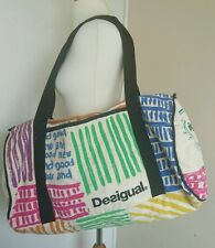 DESIGUAL Cotton Sports Gym Holdall Yoga Beach Shoulder Bag Style# 25Z7002 VGC