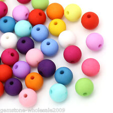 100PCS Wholesale Lots Acrylic Spacer Beads Round Mixed 10mm Dia GW