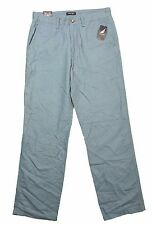 Nautica Classic Fit Tide Blue Cotton Linen Pants in 32x32