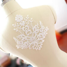 Sequin Bridal Embroidery Patch Lace Applique Motif Dance Trimming Wedding Dress