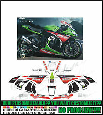 kit adesivi stickers compatibili  zx 10 r sbk 2013 world champion