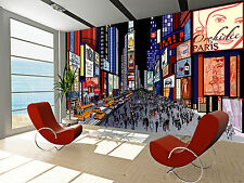 New York - Night  Wall Mural Photo Wallpaper GIANT WALL DECOR ,FREE GLUE