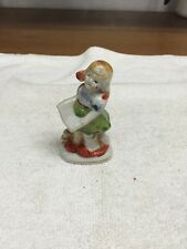 Vintage Made In Occupied Japan Girl Holding A Book Figurine