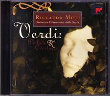 Riccardo Muti: verdi Prelude & Overtures Attila la forza del destino Nabucco CD