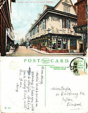 1922 THE ANCIENT HOUSE & BUTTER MARKET IPSWICH SUFFOLK COLOUR POSTCARD