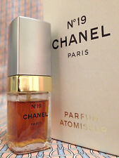 Vintage 70s Chanel No 19 Pure Parfum 1/3 oz 10 ml RARE METAL CAP - FIRST FORMULA