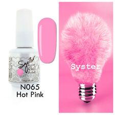 SYSTER 15ml Nail Art Soak Off Color UV Lamp Gel Polish N065 - Hot Pink