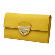 MCM YELLOW LONG FLAP  LEATHER WALLET