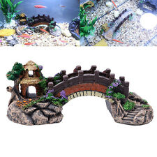 Aquarium Resin Bridge Landscape Tank Ornaments Fish Pavilion Tree Decoration
