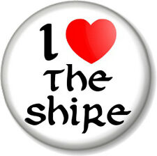 """I Love / Heart THE SHIRE 1"""" Pin Button Badge Hobbit Lord Of Rings JRR Tolkein"""