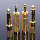 4Pcs 3.5mm To 6.5mm Female to Male Headphone Stereo Audio Jack Adapter Plug