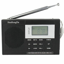 Pocket DSP FM / MW / SW Radio Shortwave Receiver Digital Clock with Earphone New