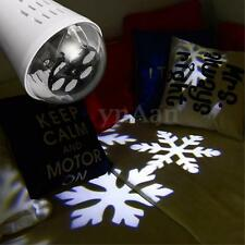 Snowflake Snow Projector E27 LED Stage Christmas DJ Disco Laser Light Lamp Bulb