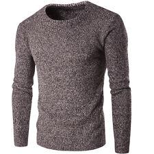 Men's Slim Round Neck Soft Knitwear Jumper Sweaters Pullover Winter Knit Tops