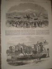 6 life boat race at Penzance & wreck Thames steamer Metis woolwich 1867 prints