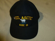 VINTAGE MILITARY NAVY HAT CAP SNAP BACK USS ARCTIC AOE 8 COMBAT SUPPLY SHIP USA