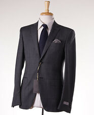NWT $2195 CANALI 1934 Gray-Black Houndstooth Check Wool Suit Slim 38 R (Eu 48)