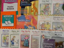Grade K Kindergarten Lot 10 Reades + Grammer Jingles CD + 4 Workbooks Math Spell