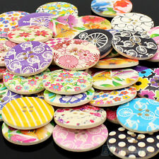 25 Pieces Large Wooden Button / Buttons unsorted MIX 3 cm / 30 mm