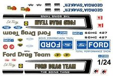 Official FORD Drag Team 1/25th - 1/24th Scale Waterslide Decals NHRA Drag