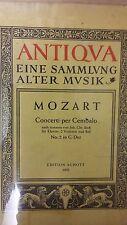 Mozart: concertos pour per cembalo: numéro 2: musique (E6)