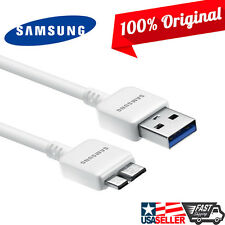 Original Samsung Note 3 Galaxy S5 White 5FT Fast USB 3.0 Data Sync Charger Cable