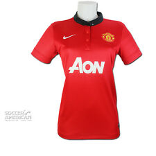 WOMENS OFFICIAL NIKE MANCHESTER UNITED HOME FOOTBALL SHIRT 2013/14 SIZE L