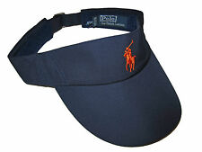 Polo Ralph Lauren Navy Blue Orange US Open Golf Tennis Visor Hat Cap