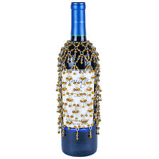 GOLD BEADED DOUBLE DANGLE WINE BOTTLE COVER Many More Styles Available