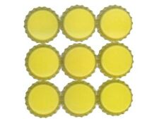 Set Lot of 50 YELLOW Blank Single Sided Colored BOTTLE CAPS Crowns Unused