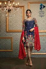 Designer Partywear Unstitched Suit With Stylish Pants